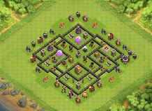 persianking1 TH 7 Clash of Clans Base Layout