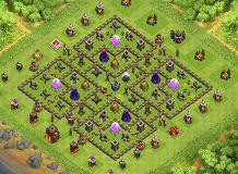 defensive TH 10 Clash of Clans Base Layout