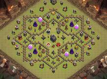 war th9 TH 9 Clash of Clans Base Layout