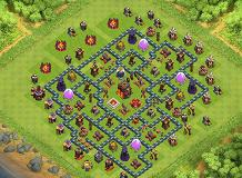 Só p/ os Hue Br TH 10 Clash of Clans Base Layout