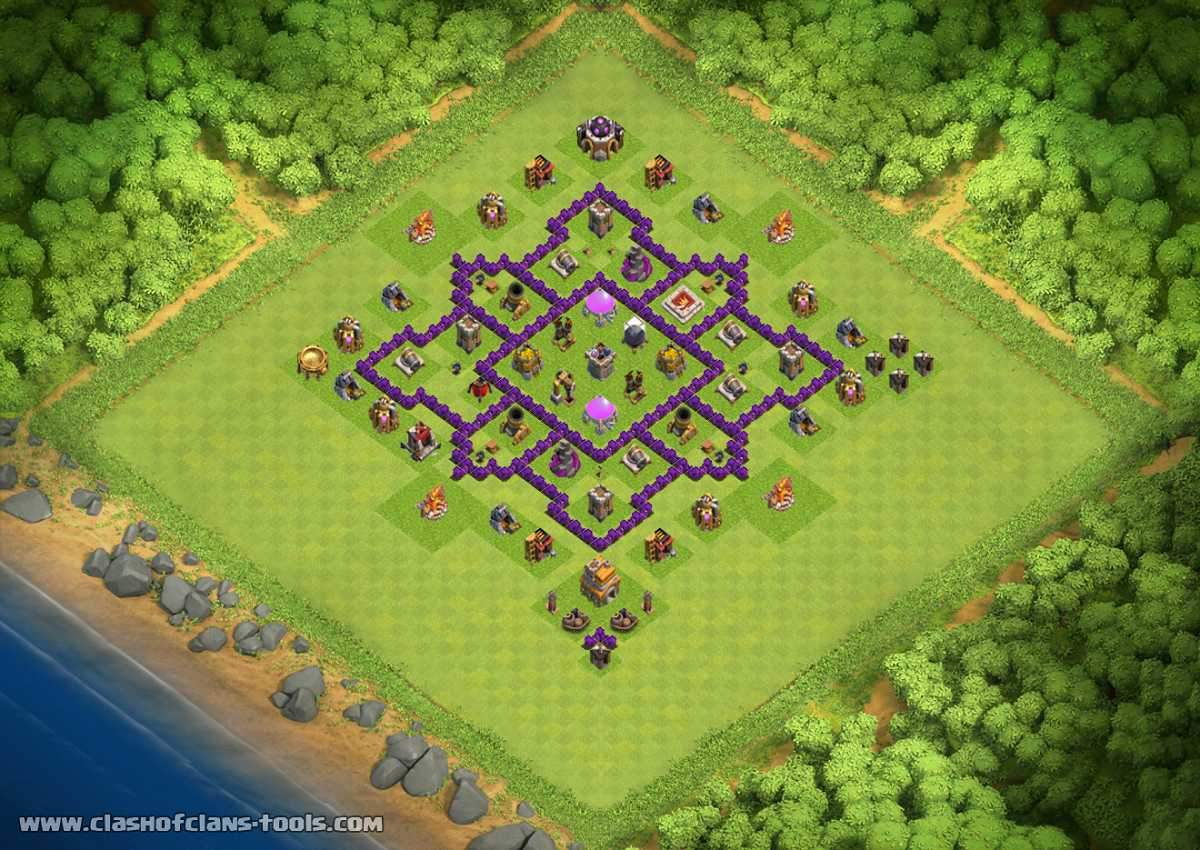 Wonderful Th7 Home Base Design Part - 14: FLOWER TH 7 Clash Of Clans Base Layout