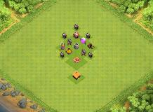 The beginning TH 1 Clash of Clans Base Layout