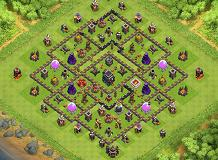 WarChokis TH 9 Clash of Clans Base Layout