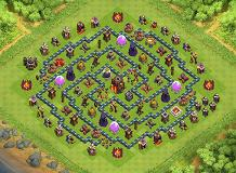 TH 10 Trophy TH 10 Clash of Clans Base Layout