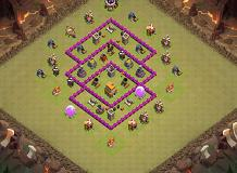 fdvg TH 6 Clash of Clans Base Layout