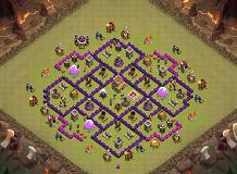 Fireball (TH8) TH 8 Clash of Clans Base Layout