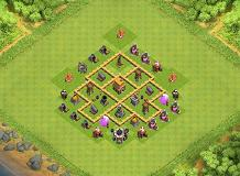 Hybrid TH5 Base TH 5 Clash of Clans Base Layout