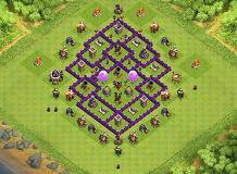 th 7 all defenses beginner layout TH 7 Clash of Clans Base Layout