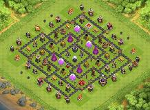 TH9 w/ Air Sweeper TH 9 Clash of Clans Base Layout