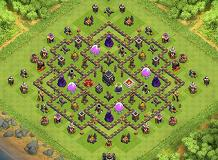 Tr0phy 01 TH 9 Clash of Clans Base Layout