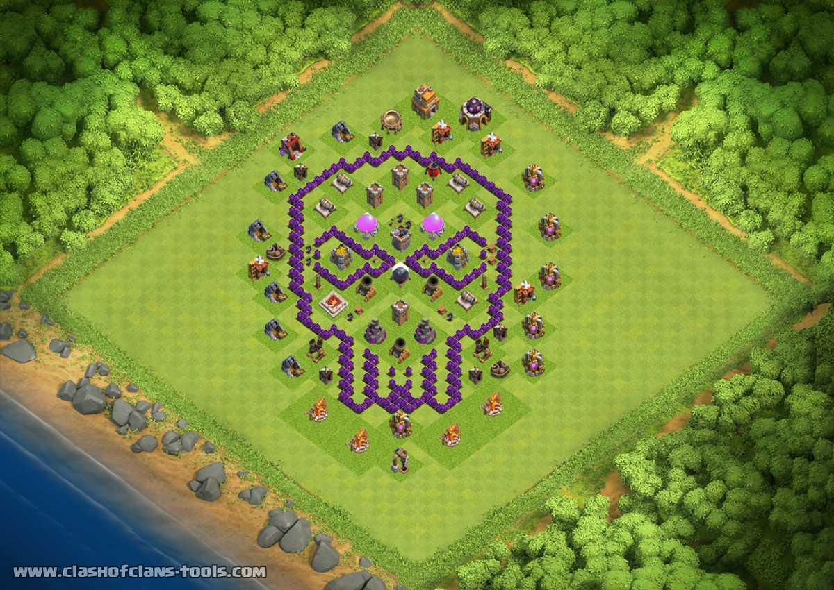 layout cv7 caveira th7 farming base by gabriel clasher clash of