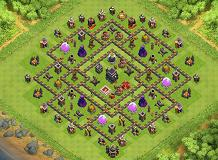 Pain TH 9 Clash of Clans Base Layout