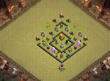 The War Is Now TH 4 Clash of Clans Base Layout