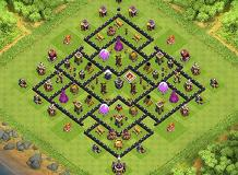 SKRILLEXDEATH CREATION TH 8 Clash of Clans Base Layout