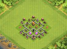 noobtest TH 4 Clash of Clans Base Layout