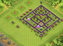 Purple Knight TH 7 Clash of Clans Base Layout