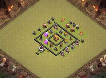smart TH 4 Clash of Clans Base Layout