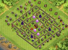 Lock Down TH 10 Clash of Clans Base Layout
