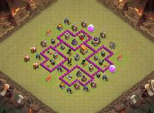 TH6 WAR BASE Air Sweeper TH 6 Clash of Clans Base Layout
