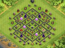 Farming Base - Townhall 9 TH 9 Clash of Clans Base Layout