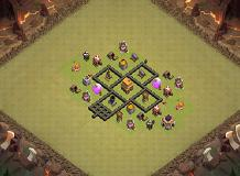 joejdmking th 4 TH 4 Clash of Clans Base Layout