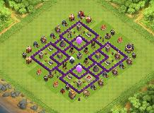 a TH 7 Clash of Clans Base Layout