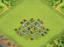 mine2 TH 4 Clash of Clans Base Layout