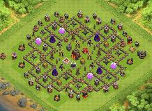 1st Town hall lvl 10 TH 10 Clash of Clans Base Layout