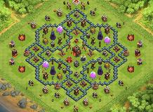 Hybrid TH10 TH 10 Clash of Clans Base Layout
