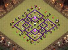 copy layout hahha sorry TH 7 Clash of Clans Base Layout