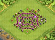 farming TH 6 Clash of Clans Base Layout