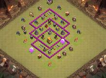 CV 6 guerra - 1 TH 6 Clash of Clans Base Layout