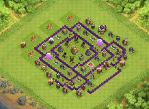 hdv 7 base no free TH 7 Clash of Clans Base Layout