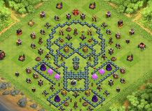 Skull Layout with Latest Update TH 10 Clash of Clans Base Layout