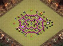 Trapped TH 6 Clash of Clans Base Layout