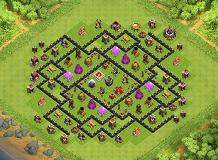 TH 9 Farming Base TH 9 Clash of Clans Base Layout