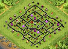 798456123 TH 9 Clash of Clans Base Layout