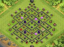 hdv 9 farming TH 9 Clash of Clans Base Layout