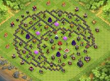 moon TH 9 Clash of Clans Base Layout