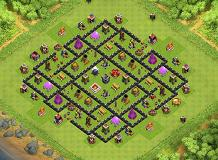 box TH 9 Clash of Clans Base Layout