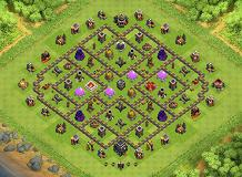 mmmm TH 9 Clash of Clans Base Layout