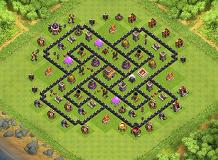 Hybrid TH 8 TH 8 Clash of Clans Base Layout