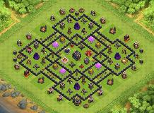 Trophy TH 9 Clash of Clans Base Layout
