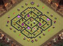 Base Coc Th 7 Bentuk Tengkorak 6