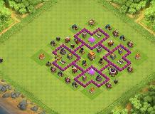 Base Coc Th 6 Anti Giant Dan Wizard 8
