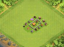 GOOD TH2 TH 2 Clash of Clans Base Layout