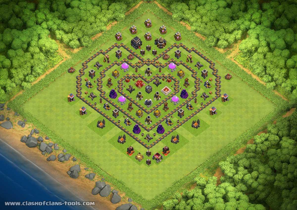 Base Coc Th 8 Bentuk Love 5