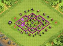 Best resource protection TH 6 Clash of Clans Base Layout