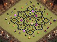 war base th 8 TH 8 Clash of Clans Base Layout