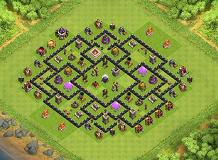 HDV8 Farming TH 8 Clash of Clans Base Layout